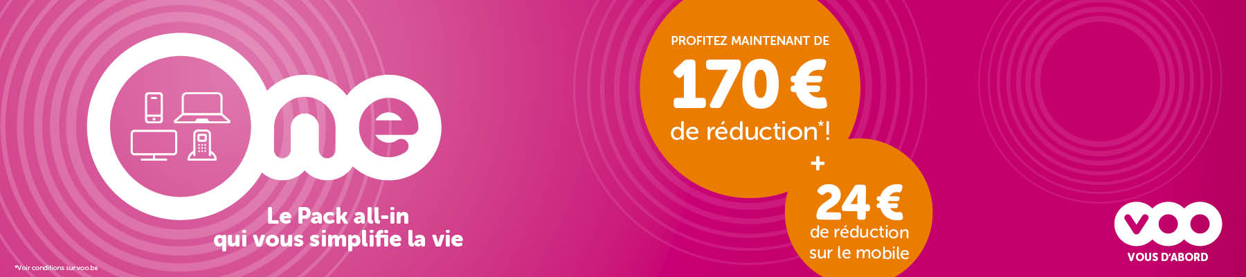 promotion pack VOO one prix