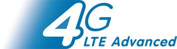 4G LTE Advanced blue