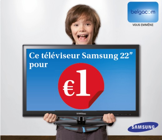 belgacom offre une tv samsung ses nouveaux clients astel. Black Bedroom Furniture Sets. Home Design Ideas