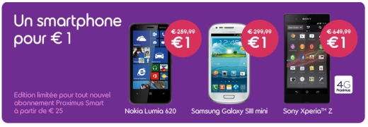 Belgacom smartphone 1 euro