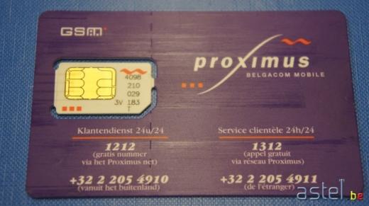 Carte SIM Proximus