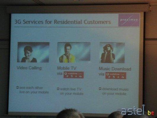 Vue d'ensemble des trois services 3G - 23ko