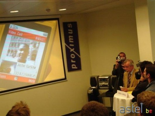 Astel.be - Justin Gathlin - Lancement 3G avec la Visiophonie