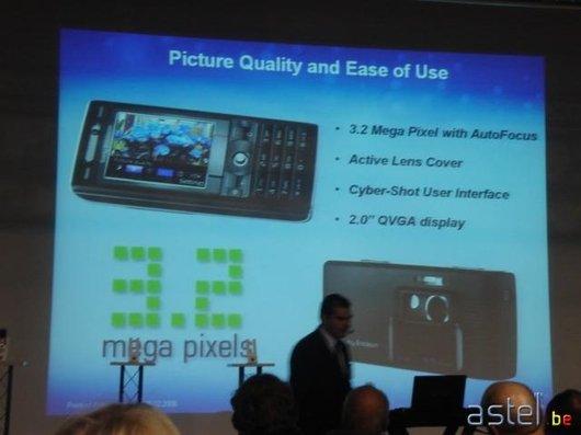 L'annonce des 3,2 mégapixels des K790i/K800i - 28.4ko
