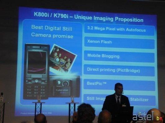 Le résumé des caractéristiques des K790i/K800i - 34.2ko