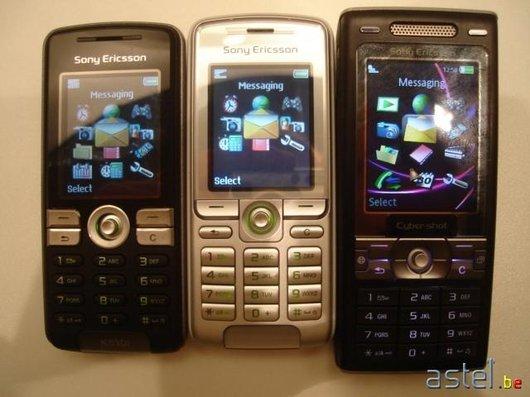 Dans l'ordre: K510i, K310i et K790i - 45ko
