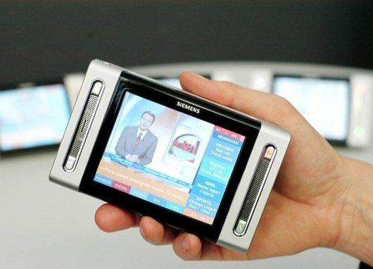 Une démonstration de récetion de télévision mobile via la technologie DVB-H. - 50.5ko
