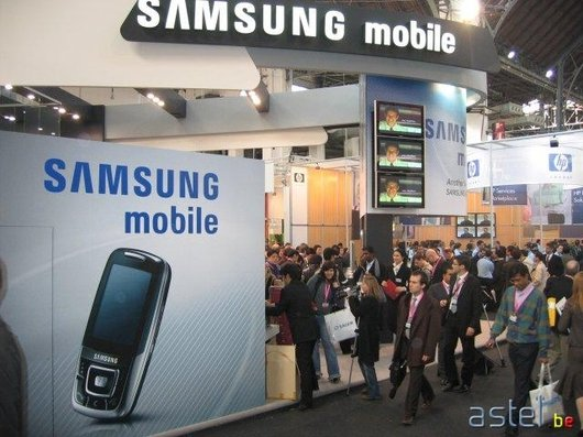 Le stand Samsung au 3GSM World Congress de Barcelone - 58.6ko
