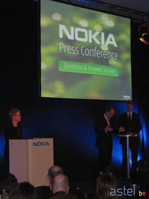 La conférence de presse que Nokia a donné sur le salon pour présenter ses nouveaux 6136, 6131 et 6070 - 31.8ko