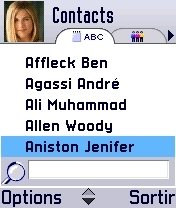 Liste contacts