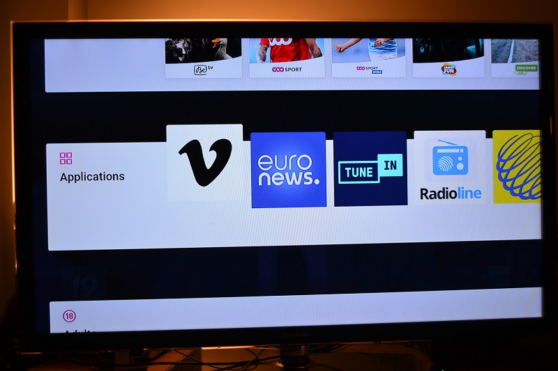 VOO TV plus Applications