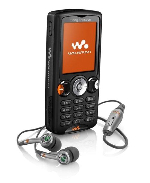 W810 with earphones satinblackP