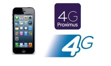 Iphone5 base proximus 4G