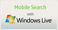 Mobile search with windows live
