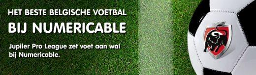 Numericable belgisch voetbal