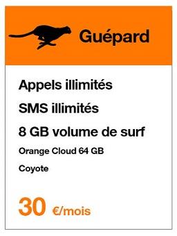 Orange belgique guepard
