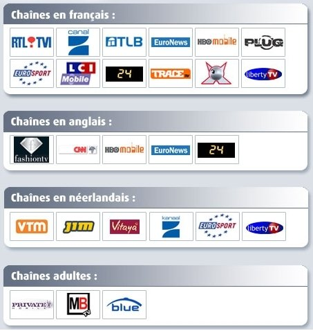 Proxi mobiletv chaines