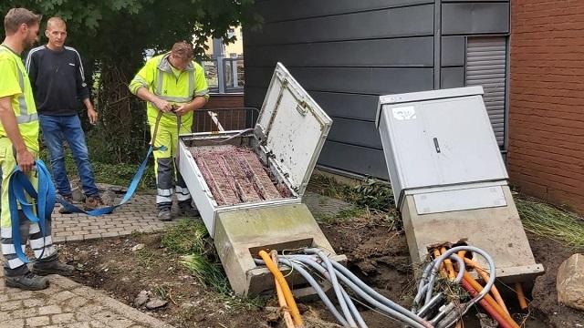 Proximus internet panne inondations liege