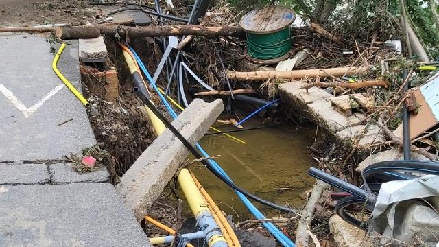 Proximus internet panne inondations pepinster