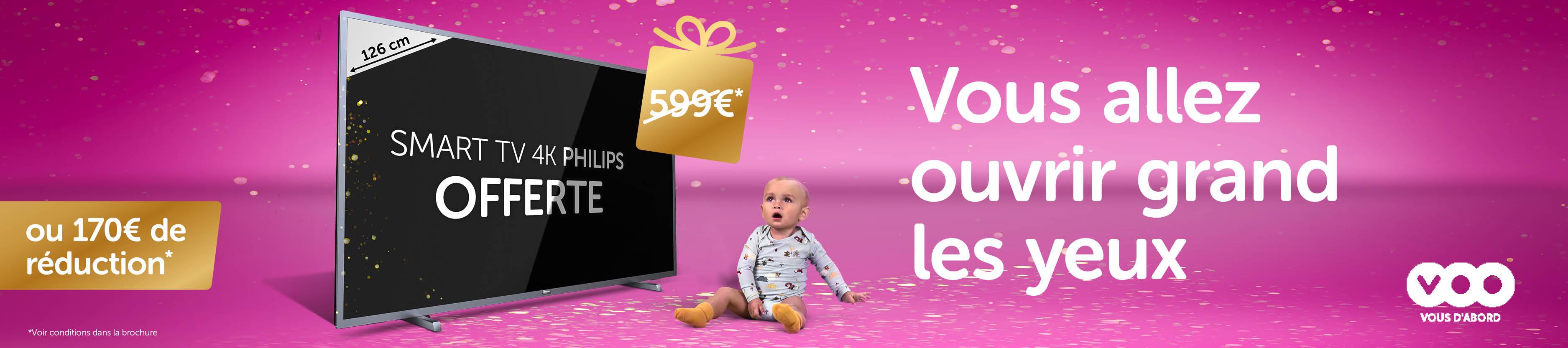 Promotion VOO TV Philips gratuite