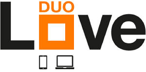 Orange love duo logo