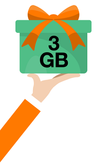 Orange 3 ans cadeau 3 GB data gratuits