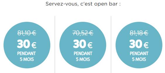 Telenet bruxelles promotion 30 euro 5 mois