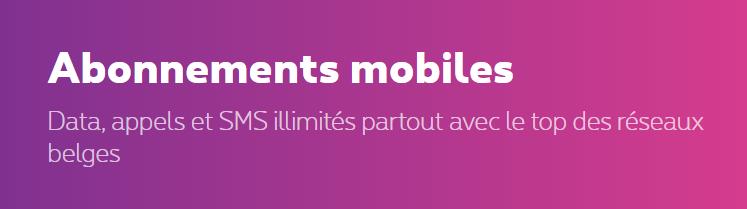 Abonnement gsm proximus mobilus