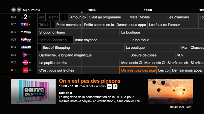 Orange tv mise a jour decodeur