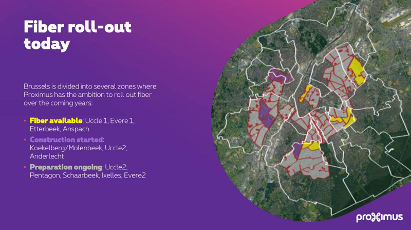 Proximus carte fibre optique bruxelles 2021