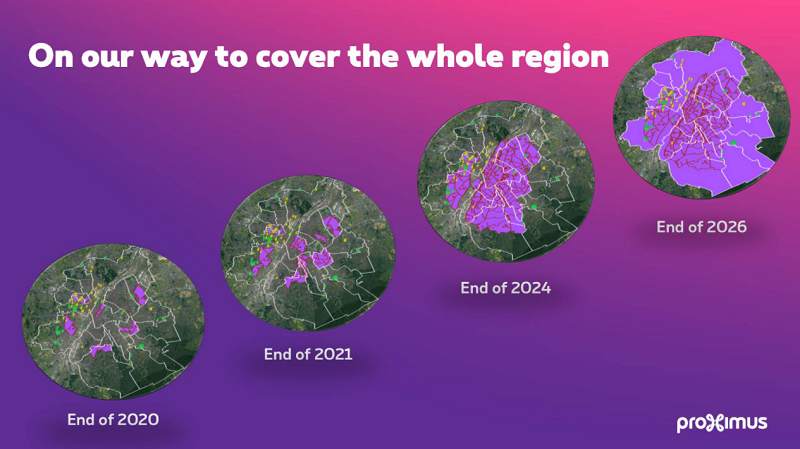 Proximus carte fibre optique bruxelles 2026