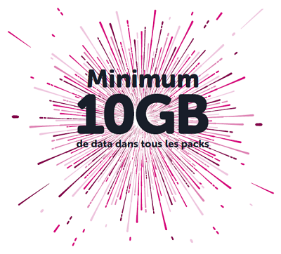 Voo minimum 10 giga data mobile en pack 2019