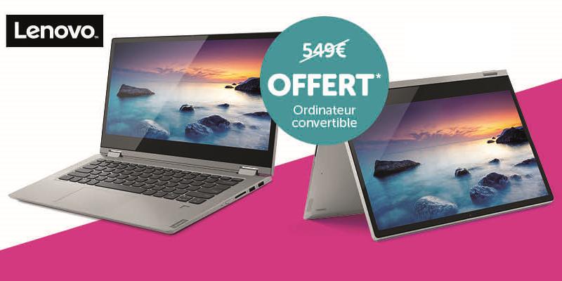 Promo - PC Lenovo gratuit au lieu de 549 €